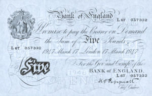 Great Britain, 5 Pound, P343