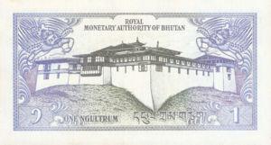 Bhutan, 1 Ngultrum, P12 v1, RMA B1a