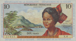 French Antilles, 10 Franc, P8a
