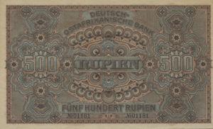 German East Africa, 500 Rupee, P5