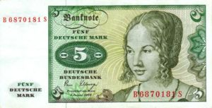 Germany - Federal Republic, 5 Deutsche Mark, P30b