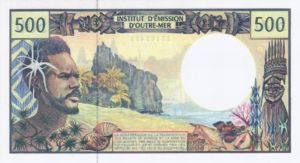 French Pacific Territories, 500 Franc, P1b Sign.2