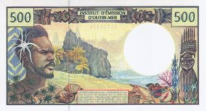 French Pacific Territories, 500 Franc, P1b Sign.3