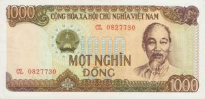 Vietnam, 1,000 Dong, P102a, SBV B30a