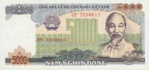 Vietnam, 5,000 Dong, P104a, SBV B32a