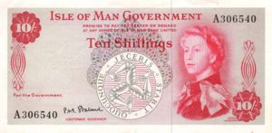 Isle Of Man, 10 Shilling, P24b