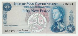 Isle Of Man, 50 New Pence, P27a