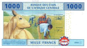 Central African States, 1,000 Franc, P107T