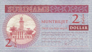 Suriname, 2.5 Dollar, P156