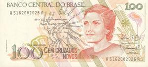 Brazil, 100 Cruzado Novo, P220a, BCB B42a
