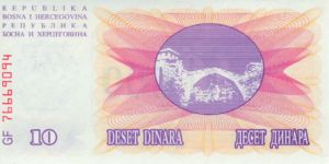 Bosnia and Herzegovina, 10,000 Dinar, P53a