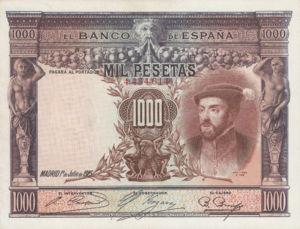 Spain, 1,000 Peseta, P70c