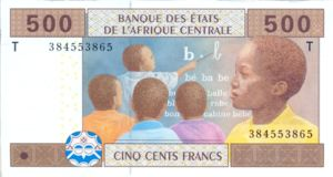 Central African States, 500 Franc, P106T