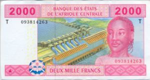 Central African States, 2,000 Franc, P108T
