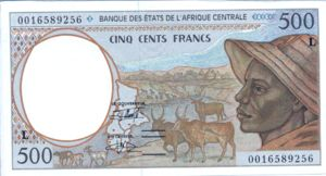 Central African States, 500 Franc, P401Lg