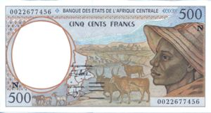 Central African States, 500 Franc, P501Ng