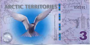 Arctic Territories, 3 Polar Dollar, PD-0003a