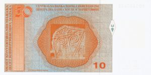 Bosnia and Herzegovina, 10 Convertible Mark, P63b