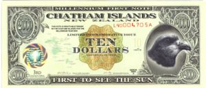 Chatham Islands, 10 Dollar,