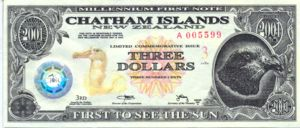 Chatham Islands, 3 Dollar,
