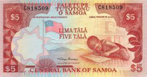 Samoa, 5 Tala, P26a