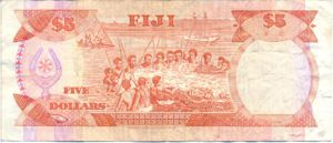Fiji Islands, 5 Dollar, P93a