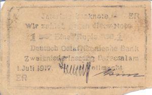 German East Africa, 1 Rupee, P22c