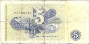 Germany - Federal Republic, 5 Deutsche Mark, P13e
