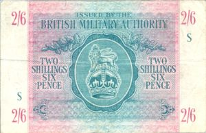Great Britain, 2/6 Shilling and Pence, M3
