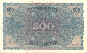 German States, 500 Mark, S954a