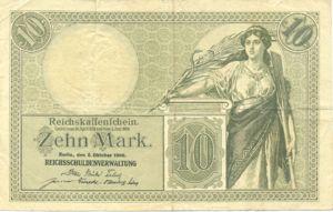 Germany, 10 Mark, P9b