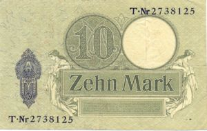 Germany, 10 Mark, P9b