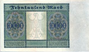 Germany, 10,000 Mark, P70
