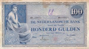 Netherlands, 100 Gulden, P39d
