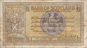 Scotland, 1 Pound, P91c