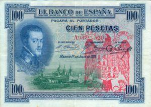 Spain, 100 Peseta, P69a - FRAUD
