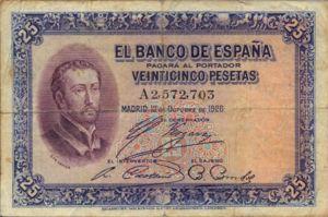 Spain, 25 Peseta, P71a