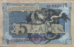 Germany, 5 Mark, P8a