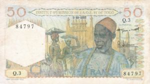 French West Africa, 50 Franc, P44