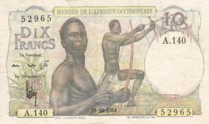 French West Africa, 10 Franc, P37