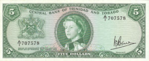 Trinidad and Tobago, 5 Dollar, P27c