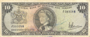 Trinidad and Tobago, 10 Dollar, P28c