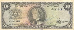 Trinidad and Tobago, 10 Dollar, P28c