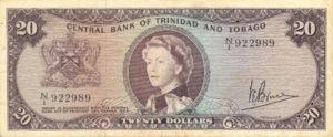 Trinidad and Tobago, 20 Dollar, P29c