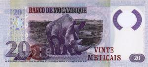 Mozambique, 20 Meticais, P143New