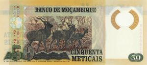 Mozambique, 50 Meticais, P144New