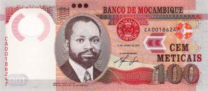 Mozambique, 100 Meticais, P145New