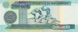 Mozambique, 200,000 Meticais, P141