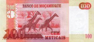 Mozambique, 100 Meticais, P145a