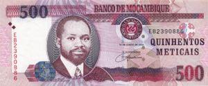Mozambique, 500 Meticais, P147a